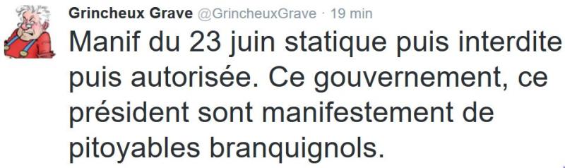 TWEET GG-Gouvenement et président pitoyables branquignols-22.06.2016