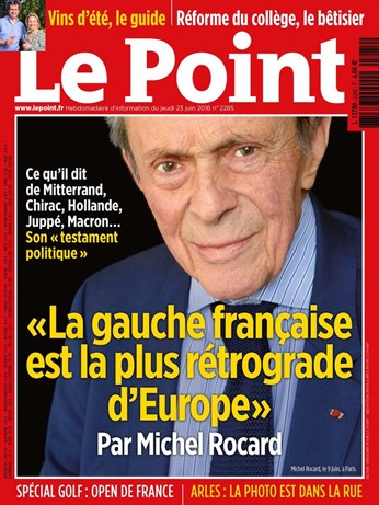 Rocard-Couverture Le Point du 23.06.2016