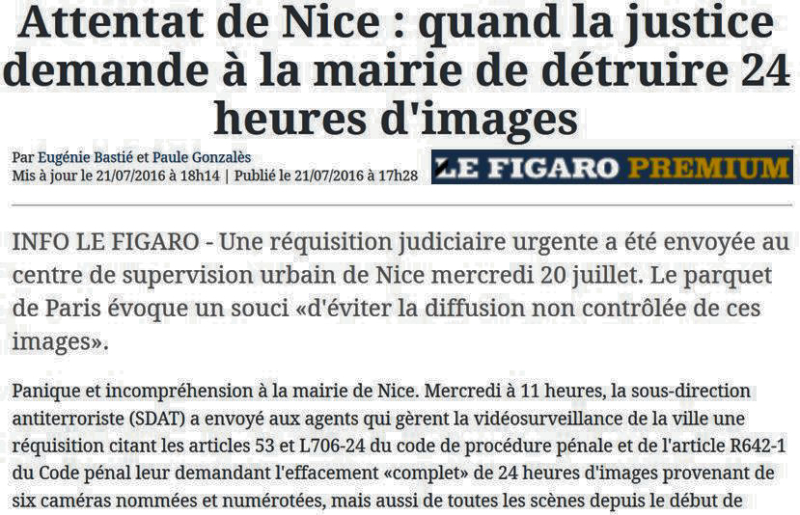 Le Figaro-Nice-La justice demande la destruction des images vidéo-21.07.2016