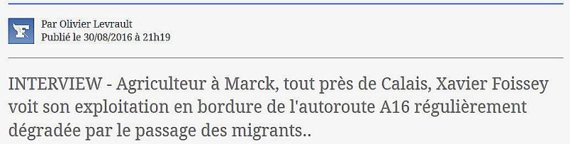 Calais champs saccagés par les migrants-30.08.2016