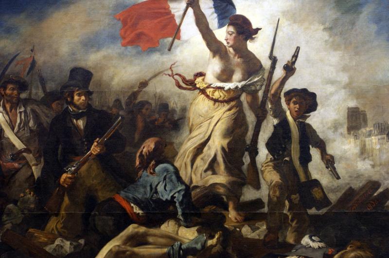 Delacroix-La liberté guidant le peuple-1830