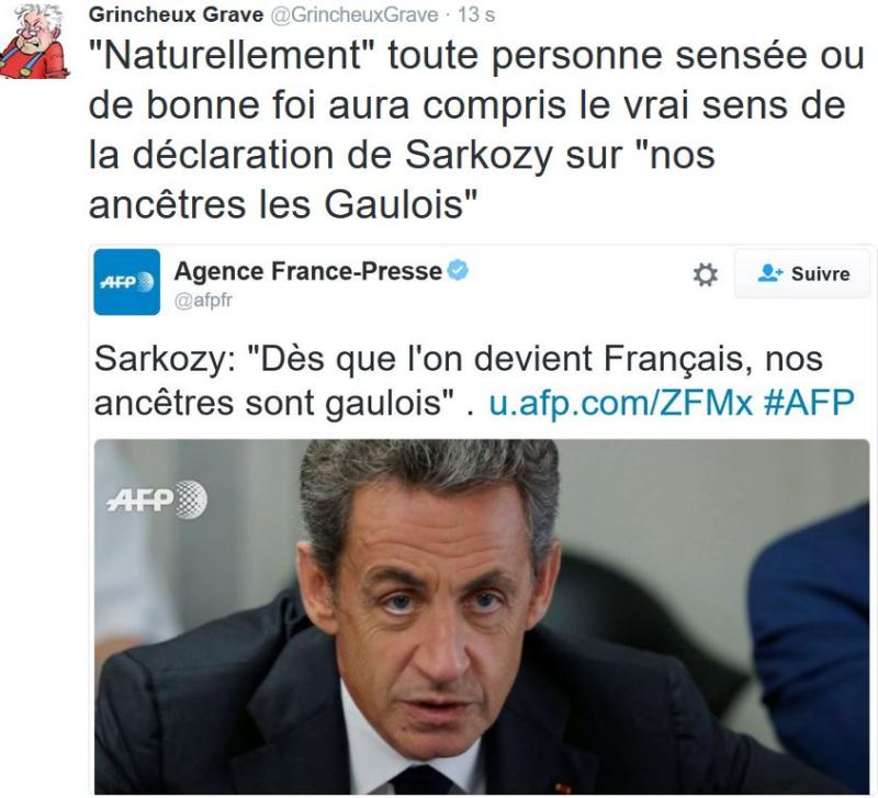 TWEET GG-Sarkozy nos ancêtres les Gaulois-20.09.2016