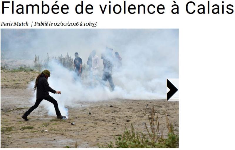 Flambée de violence à Calais-02.10.2016