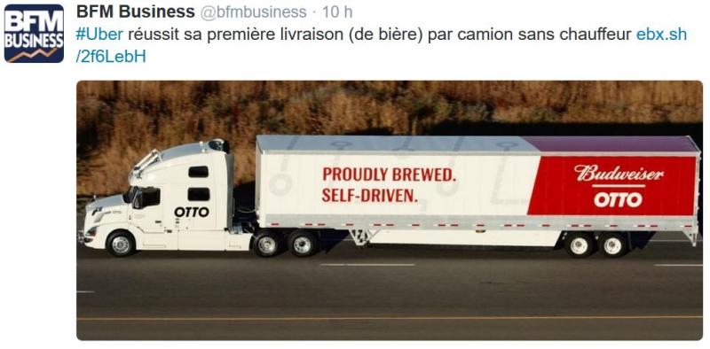 Budweiser livrée sans chauffeur