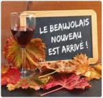 Beaujolais verre et bouteille