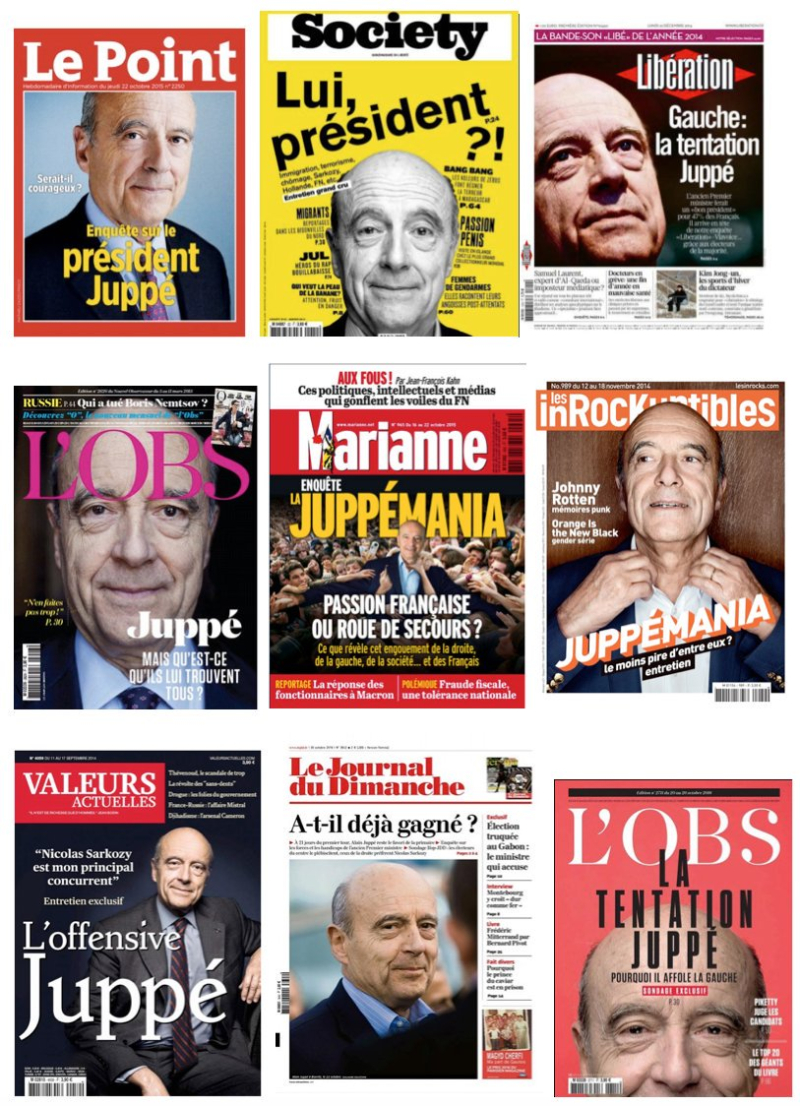 Juppé - collection de couvertures presse-2016