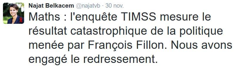 TWEET-Belkacem la faute à Fillon-30.11.2016