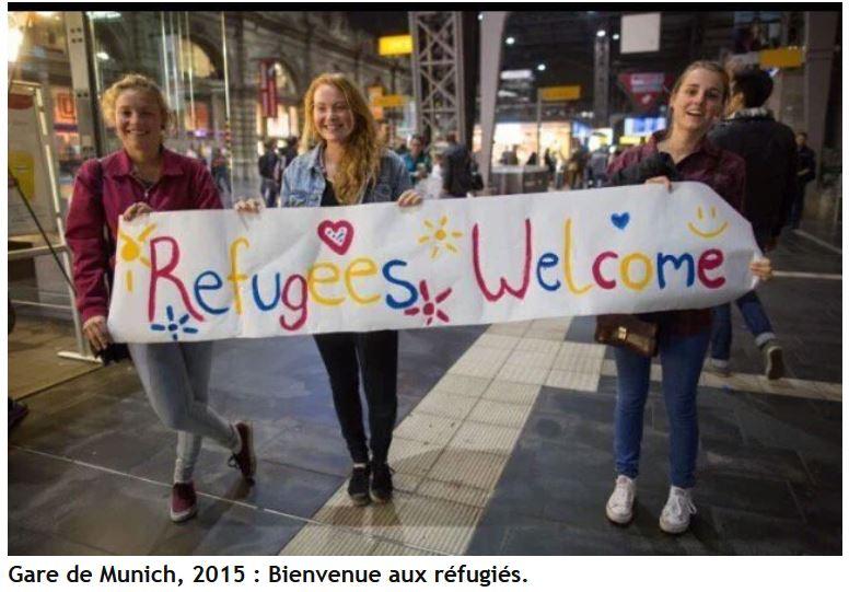 Gare de Munich - Bienvenue aux réfugiés - 2015