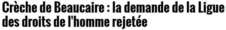 Crèche de Beaucaire-demande d'interdiction rejetée-21.12.2016