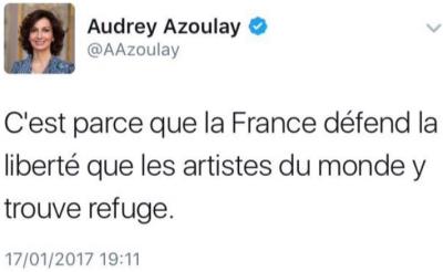 TWEET-Audrey Azoulay-17.01.2017