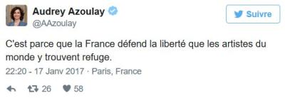 TWEET corrigé - Audrey Azoulay-17.01.2017