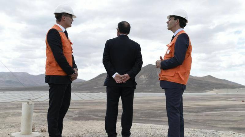 Hollande devant le désert d'Atacama-janvier 2017