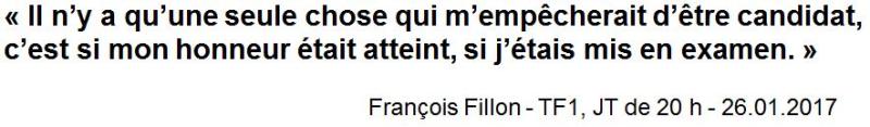 Déclaration Fillon TF1-26.01.2017