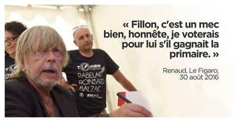 Renaud votera Fillon