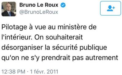 TWEET Bruno Le Roux 01.02.2011