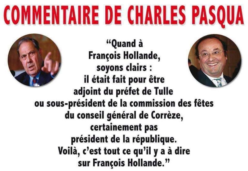 Charles Pasqua donne son avis sur François Hollande