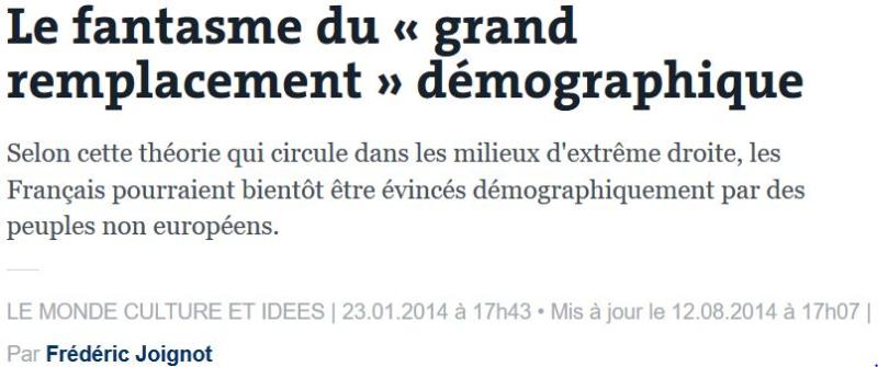 Le grand remplacement-Le Monde-23.01.2014