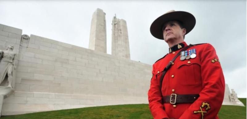 Un sergent canadien à vimy