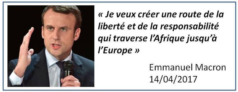 TWEET-Macron une route de la liberté