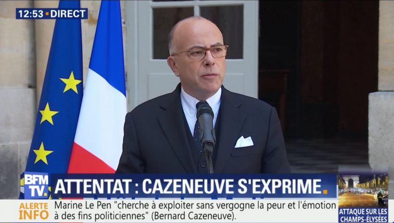 Attentat-Cazeneuve s'exprime-21.04.2017