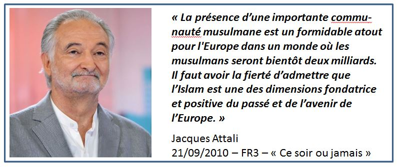 TWEET-Attali les musulmans en Europe-21.09.2010