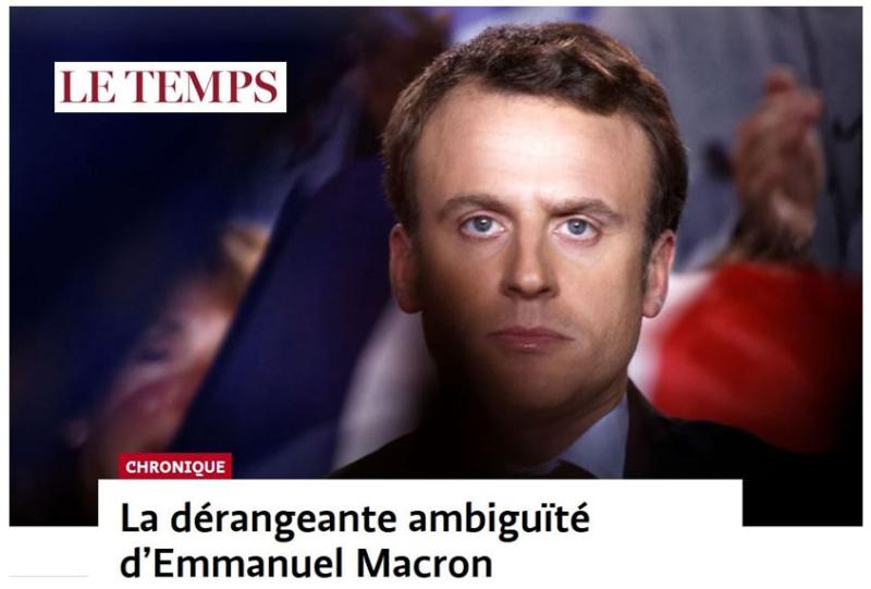 Suisse-Le Temps-Macron