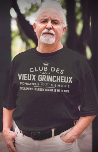 T-Shirt club des vieux grincheux