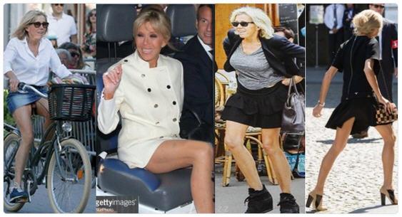Brigitte Macron exhibe ses gambettes