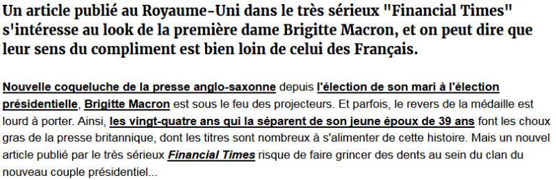 Brigitte Macron cagole - Financial Times