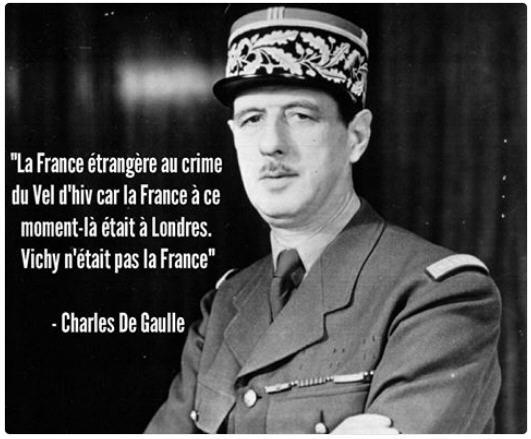 Le Vel d'Hiv par de Gaulle