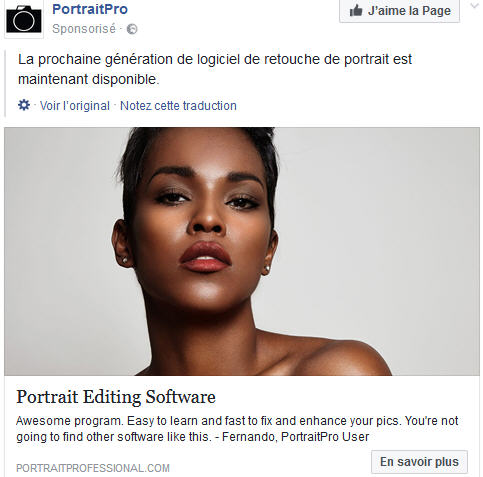 PortraitPro pub Facebook