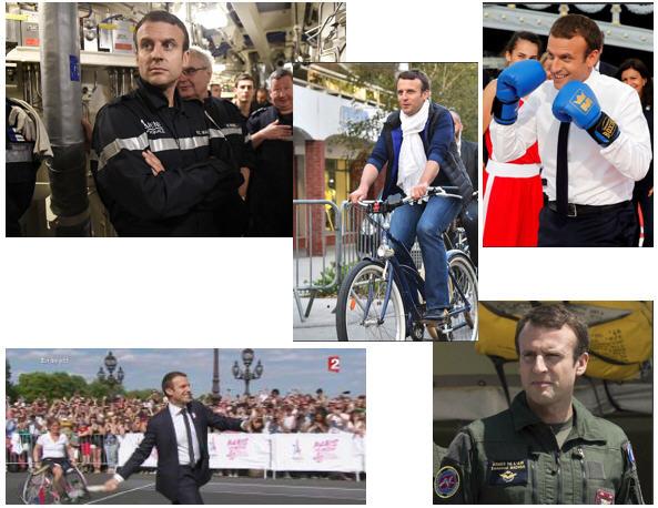 Macron se déguise
