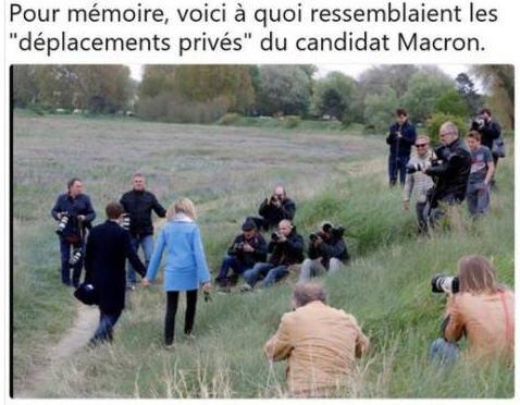 Les Macron en balade privée