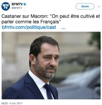 Castaner-parler comme lee Français-05.10.2017