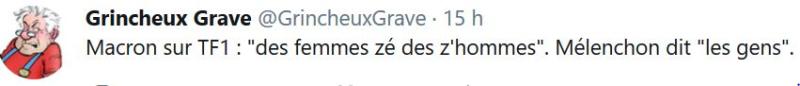 Macron-les femmes zé les z'hommes