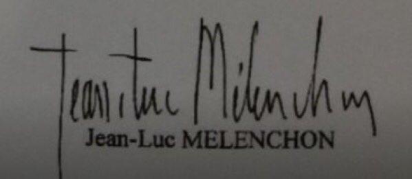 Signature Jean-Luc Mélenchon