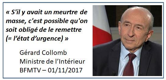 Gérard Collomb-Etat d'urgence-BFMTV-01.11.2017