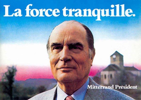 Affiche La force tranquille 1981 Mitterrand