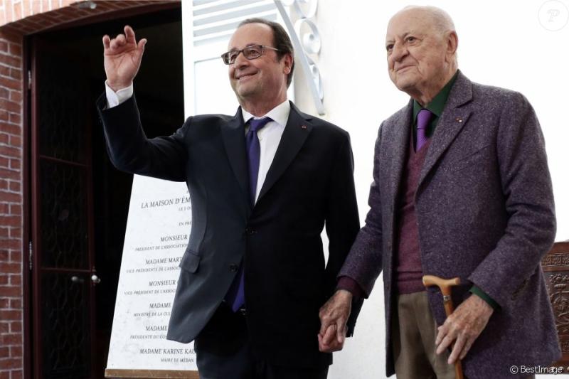 Hollande et Pierre Bergé