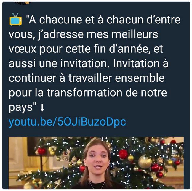 Aurore Bergé voeux fin 2017