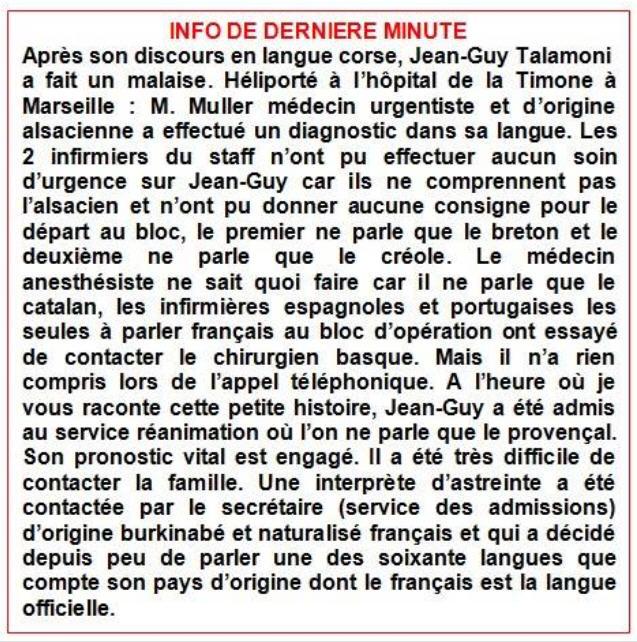 Jean-Guy Talamoni hospitalisé