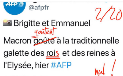 AFP tweet galette des rois 2018 Elysée