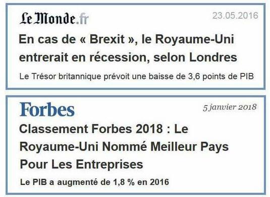 Brexit - Fake News dans Le Monde