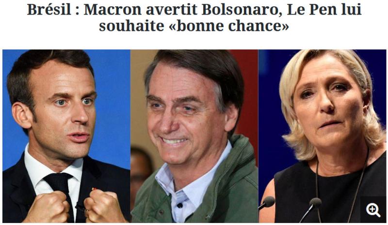 Brésil - Macron avertit Bolsonaro