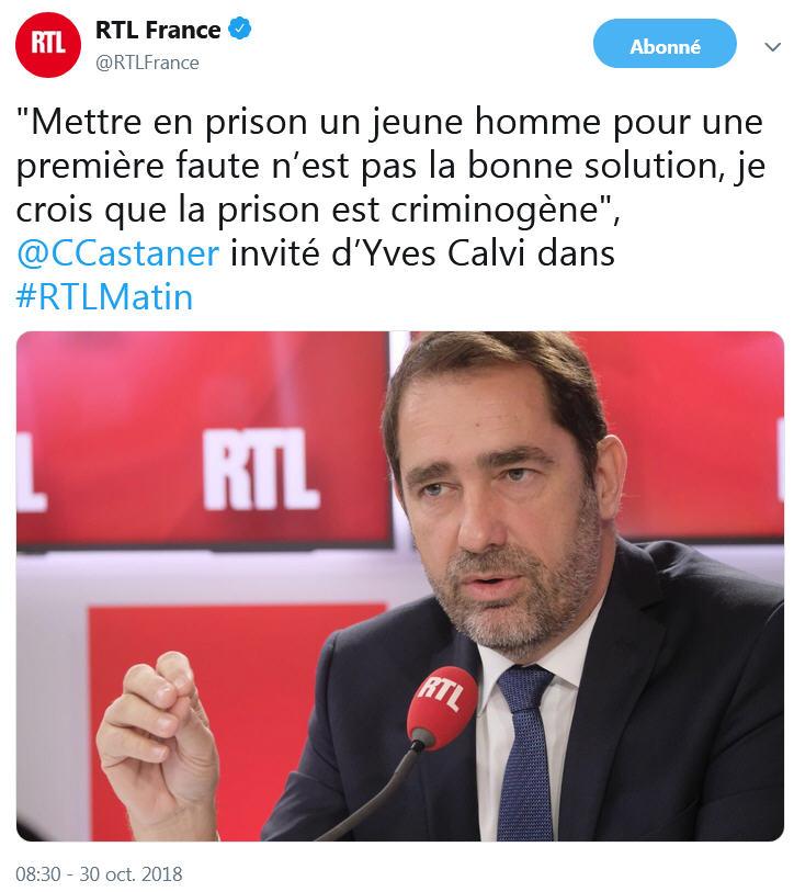 Castaner - RTL - 30.10.2018