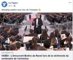 Boléro de Ravel standing ovation