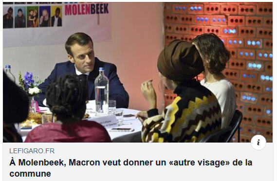 Macron à Molenbeek