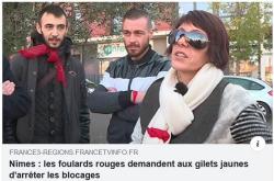 Nîmes les foulards rouges