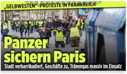 Panzer sichern Paris - BILD - 08.12.2018