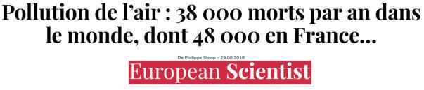 38 000 morts dans le monde dont 48 000 en France